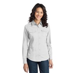 Ladies Stain Release Roll Sleeve Twill Shirt Thumbnail