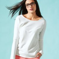 Women's Terry Long Sleeve Scoopneck T-Shirt Thumbnail