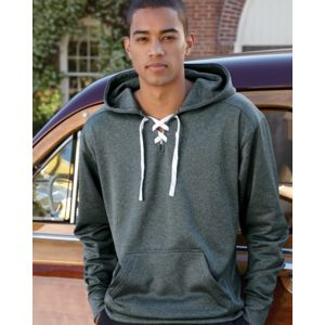 Sport Lace Polyester Fleece Hooded Pullover Thumbnail