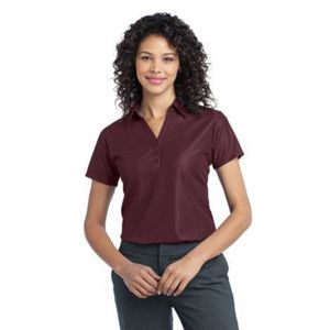 Ladies Vertical Pique Polo Thumbnail