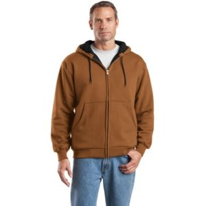 Heavyweight Full Zip Hooded Sweatshirt with Thermal Lining Thumbnail