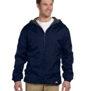 Men's Fleece-Lined Hooded Nylon Jacket Thumbnail