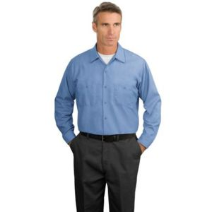 Long Size, Long Sleeve Industrial Work Shirt Thumbnail