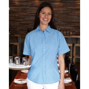 Women's Short Sleeve Stain Resistant Oxford Shirt Thumbnail