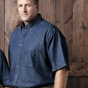 Short Sleeve Denim Tall Sizes Thumbnail
