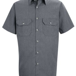 Heathered Poplin Uniform Shirt Thumbnail