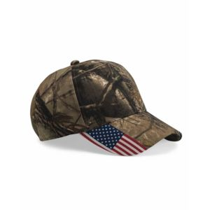 Cap with American Flag on Visor Thumbnail