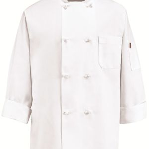 Eight Knot Button Chef Coat with Thermometer Pocket Thumbnail