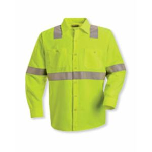 High Visibility Safety Long Sleeve Work Shirt Thumbnail