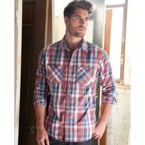 Vintage Plaid Long Sleeve Shirt Thumbnail