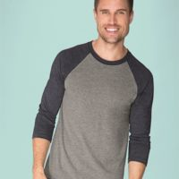 Unisex Tri-Blend Three-Quarter Sleeve Baseball Raglan Tee Thumbnail