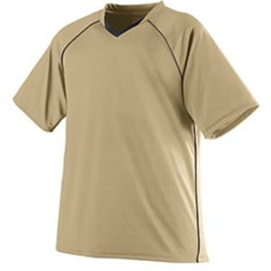 Youth Wicking Polyester V-Neck Jersey with Contrast Piping Thumbnail