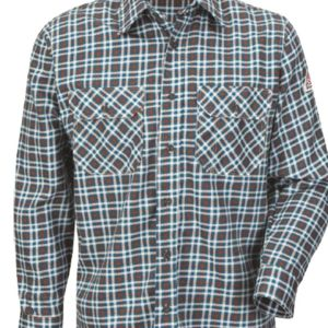 Plaid Long Sleeve Uniform Shirt Thumbnail