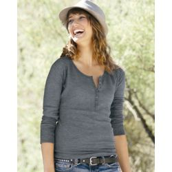 Ladies' Thermal Henley Thumbnail