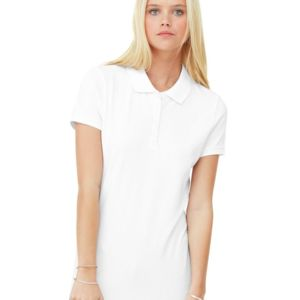 Women's Cotton Spandex Mini Pique Short Sleeve Polo Thumbnail