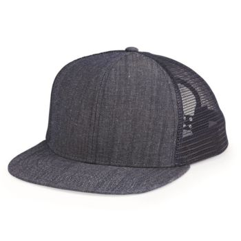 Flat Bill Six-Panel Trucker Cap Thumbnail