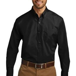 Tall Long Sleeve Carefree Poplin Shirt Thumbnail