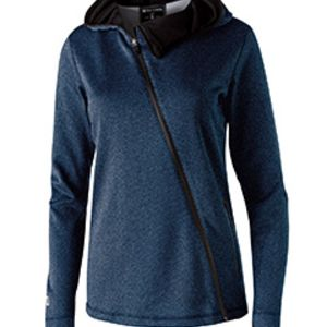 Ladies' Polyester Fleece Full Zip Hooded Artillery Angled Jacket Thumbnail