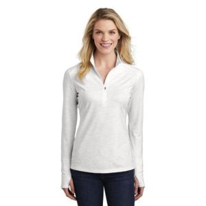 ® Ladies Sport Wick ® Stretch Reflective Heather 1/2 Zip Pullover Thumbnail