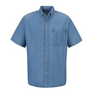 Short Sleeve Denim Shirt Thumbnail