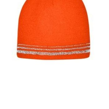 ® Lined Enhanced Visibility with Reflective Stripes Beanie Thumbnail