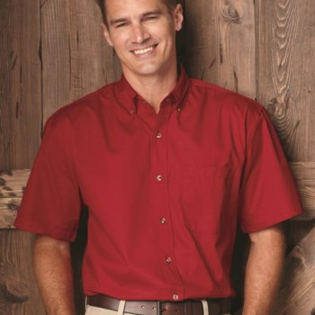 Short Sleeve Stain-Resistant Twill Shirt Thumbnail
