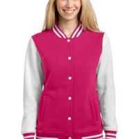 Ladies Fleece Letterman Jacket Thumbnail