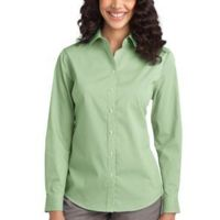 Ladies Fine Stripe Stretch Poplin Shirt Thumbnail