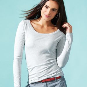 Women's Triblend Long Sleeve Scoop Thumbnail