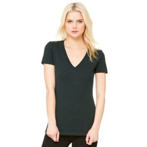 Women's Triblend Deep V-neck Tee Thumbnail