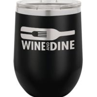 12 oz. Stainless Steel Stemless Wine Tumbler w/Lid Thumbnail