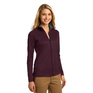 Ladies Vertical Texture Full Zip Jacket Thumbnail