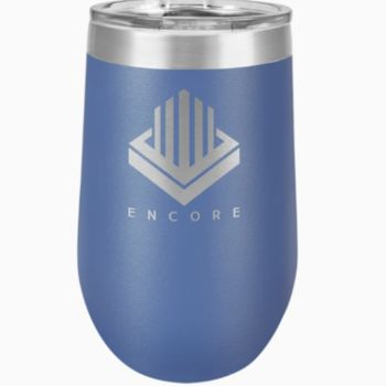 16 oz. Stainless Steel Stemless Wine Tumbler w/Lid Thumbnail