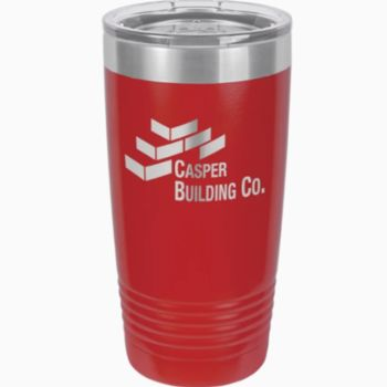 20 oz. Stainless Steel Tumbler w/Clear Lid Thumbnail