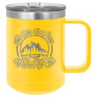 15 Oz. Polar Camel Stainless Steel Vacuum Insulated Handle Mug Thumbnail