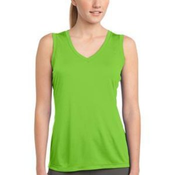 Ladies Sleeveless PosiCharge™ Competitor™ V Neck Tee Thumbnail
