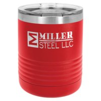 10 oz. Stainless Steel Tumbler w/Clear Lid Thumbnail